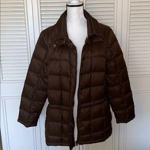 Ralph Lauren 2x brown puffer jacket coat